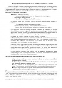 A la suite de la Commission d'Action du 27.10.13