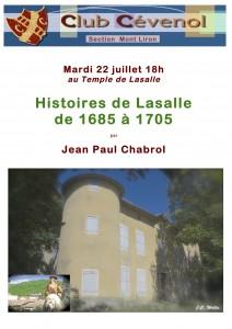 Histoire de Lasalle de 1685 à1705