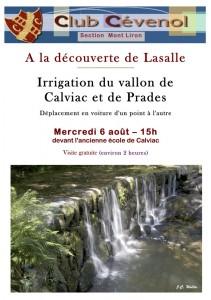S-Irrigation du vallon de Calviac et de Prades