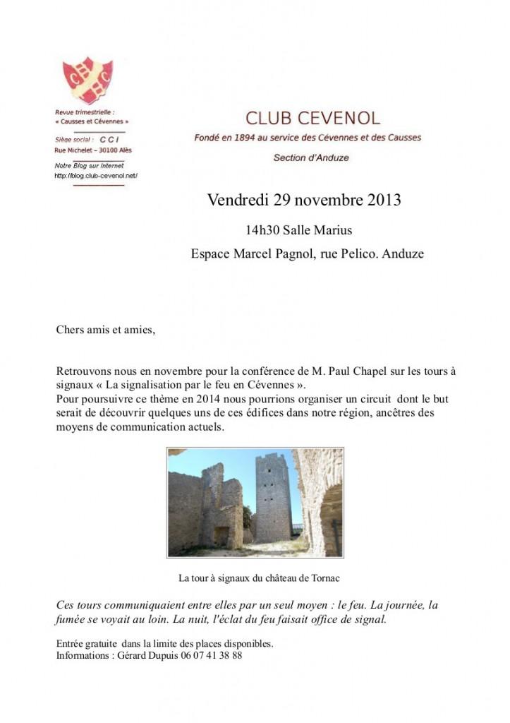 Invitation novembre 2013