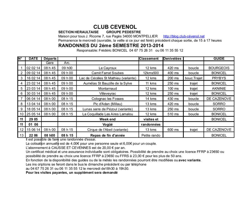 1 programme 2014