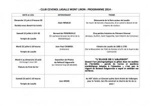 Programme 2014-1