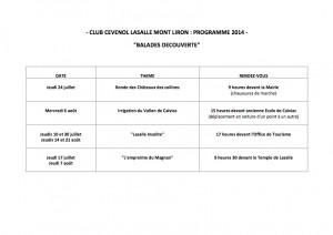 Programme 2014-2